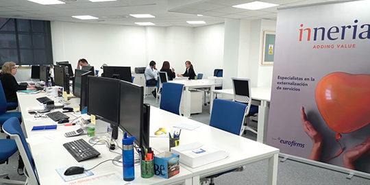 Vista de las oficinas de Inneria