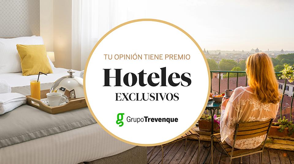 Si respondes a nuestra encuesta de satisfacción, entrarás en el sorteo para disfrutar de un fin de semana para dos personas en un hotel exclusivo