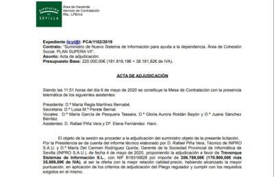 Gesad obtiene la adjudicación de la Diputación de Sevilla para implantar un sistema de información único en el Servicio de Ayuda a Domicilio